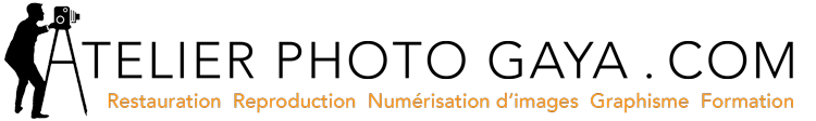 atelier photo gaya restauration numerisation image logo