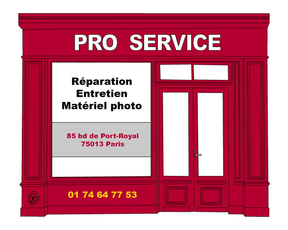 pro service dessin boutique paris